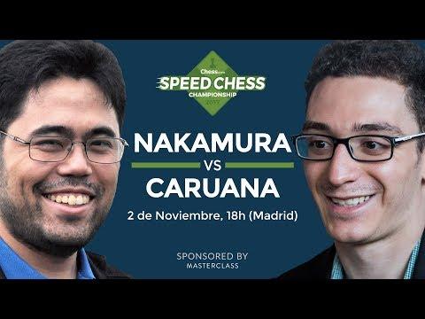 Hikaru Nakamura vs Fabiano Caruana | Torneo de Ajedrez Speed Chess 2017