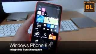 Windows Phone 8.1 mit integrierter Sprachausgabe - Blindlife