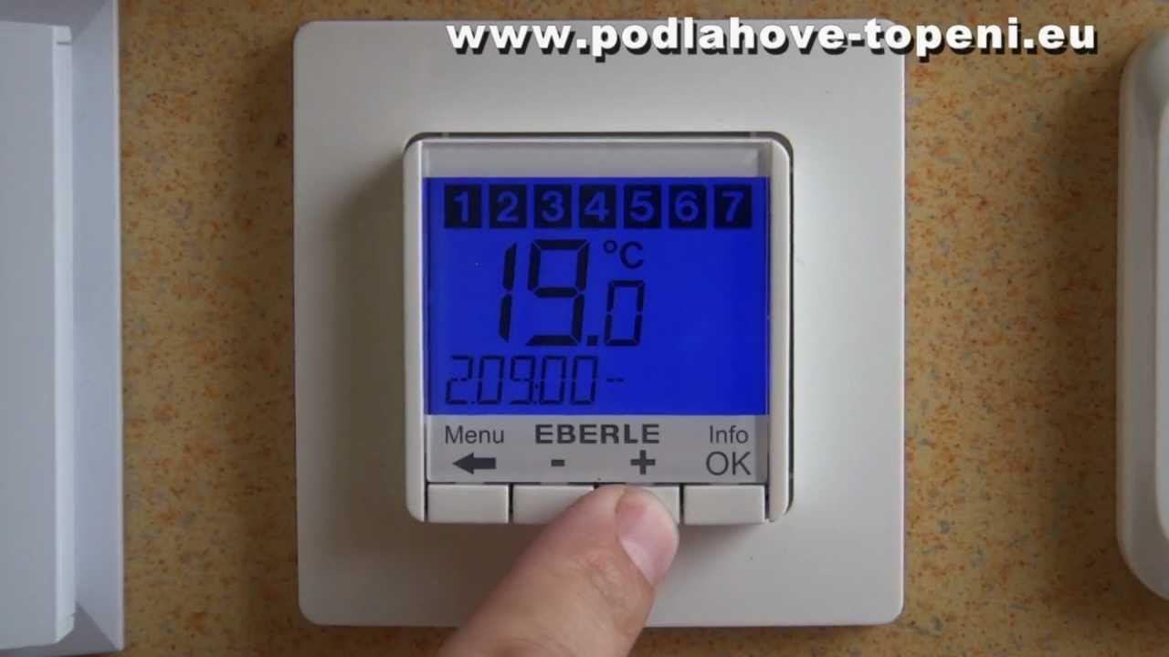 Digitalni Termostat Eberle Fit 3u Nejen Pro Elektricke Podlahove