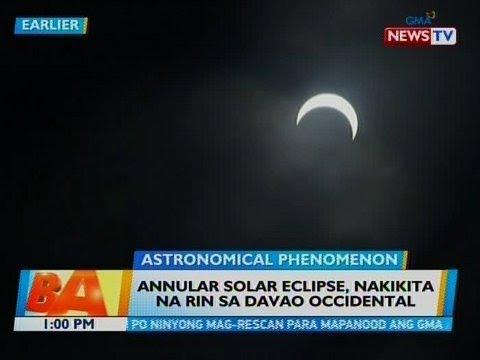 BT: Annular Solar Eclipse, nakikita na rin sa Davao Occidental