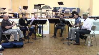 "PRISM Quartet, Greg Osby Dave Liebman rehearsing ""A Moody Time"""
