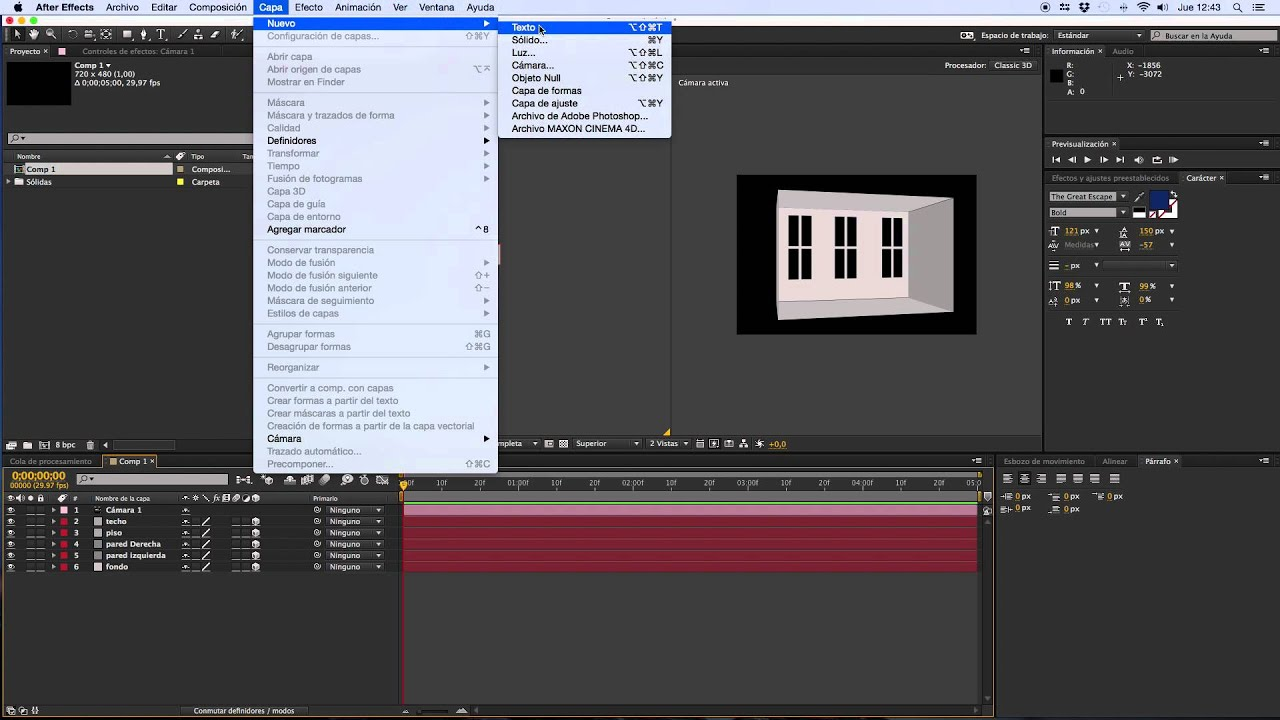habitaci n 3d after effects youtube ForHabitacion 3d After Effects
