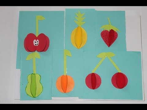 DIY - 3D Fruits With Paper | Paper Craft Idea for Kids