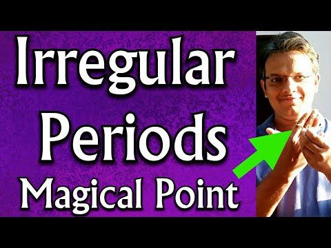 Acupressure Points For IRREGULAR PERIODS || Irregular MENSTRUAL CYCLE || Irregular Menstruation