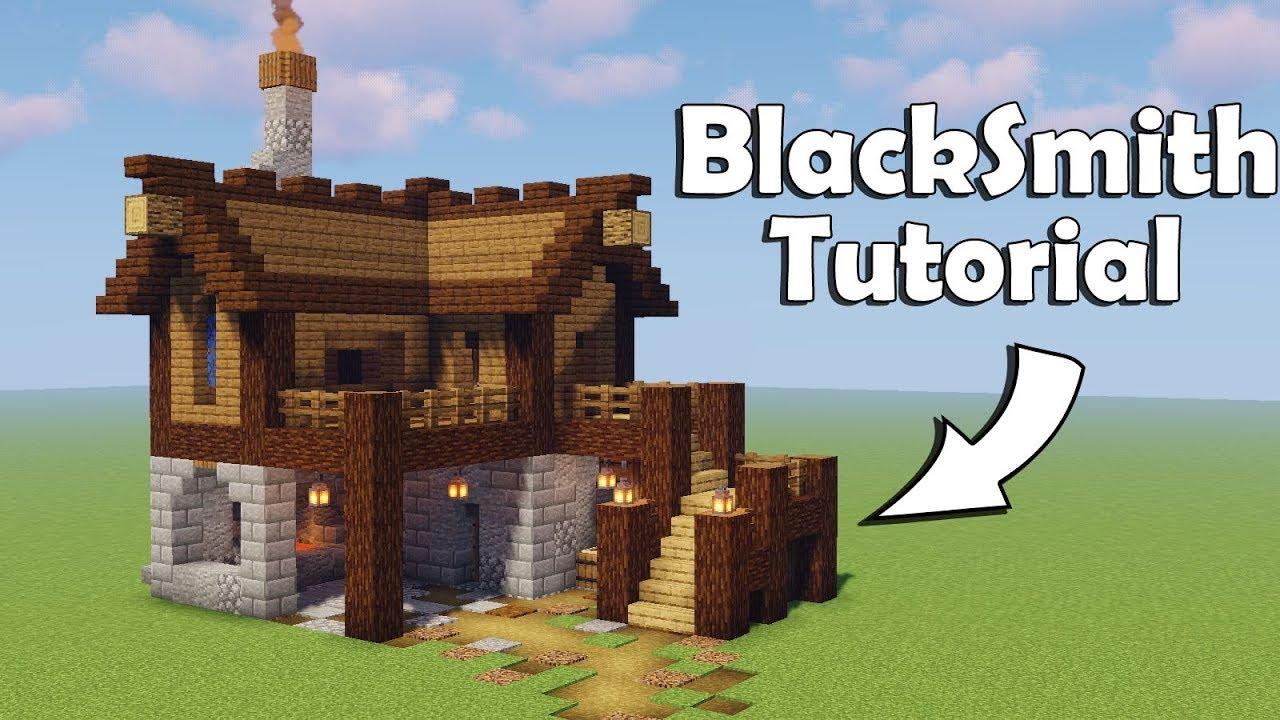 Minecraft How To Build A Blacksmith Tutorial Youtube