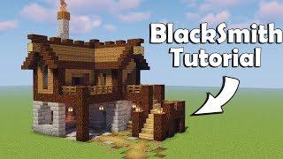 Minecraft: How to build a Blacksmith Tutorial YouTube