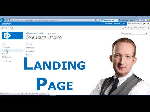 Create Custom SharePoint Landing Page - YouTube