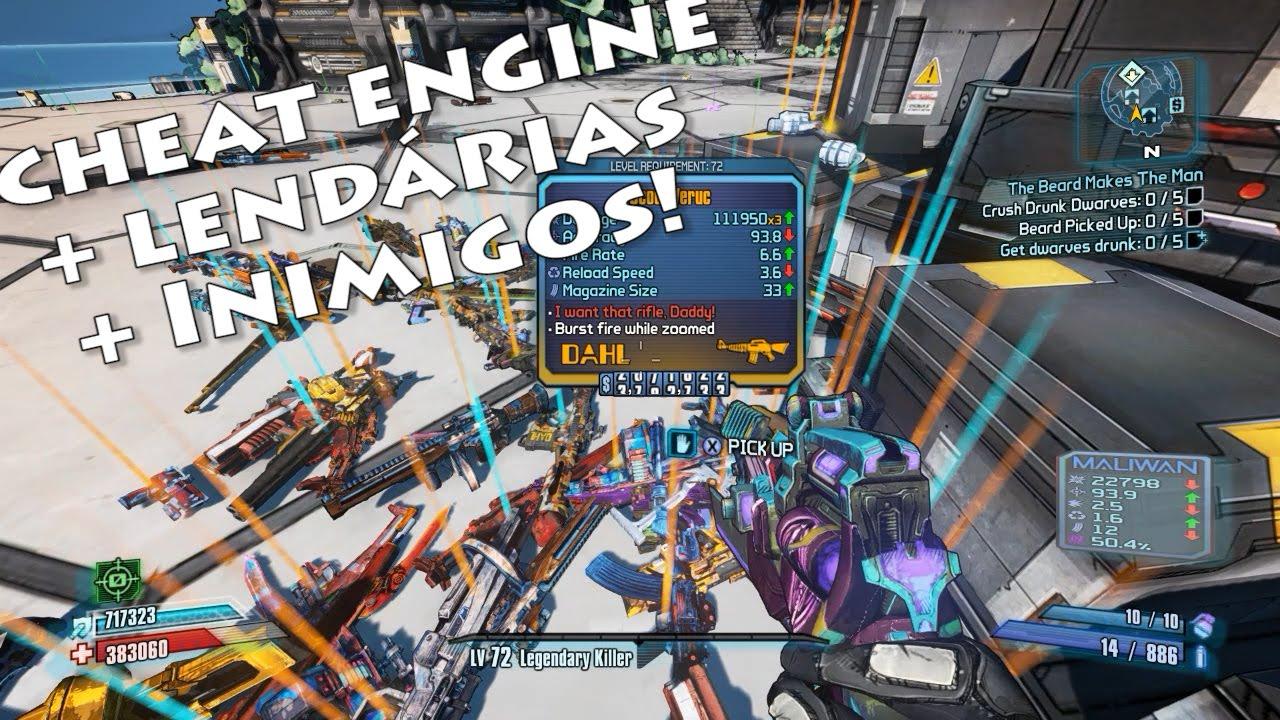 Tutorial Cheat Engine: festa de armas lendárias e trocando chefes (Bunker) Borderlands 2 - YouTube