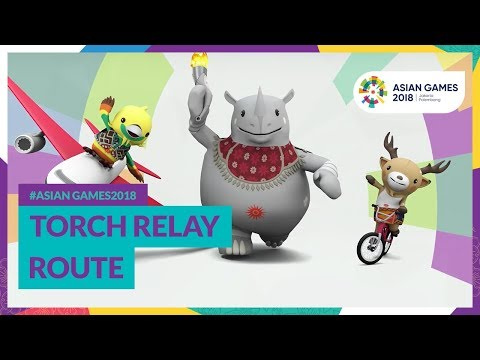 #AsianGames2018 Torch Relay Route