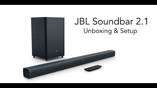 JBL Soundbar 2.1 with Wireless Subwoofer Unboxing & Setup   Digit.in