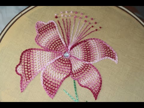 Hand Embroidery Designs | Net stitch design