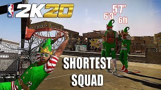 THE SHORTEST LINEUP IN THE PARK EVER AND WENT CRAZY - NBA 2K20 GAMEPLAY