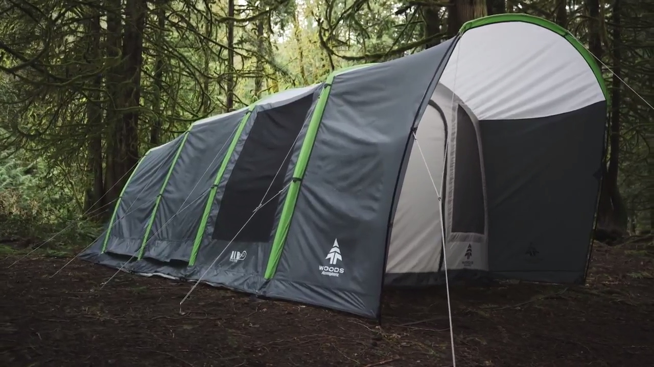 Woods Atmospheric Plus Airbeam Tent. Canadian Tire & Woods Atmospheric Plus Airbeam Tent - YouTube