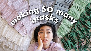 making face masks in quarantine until my hands fall off | JENerationDIY