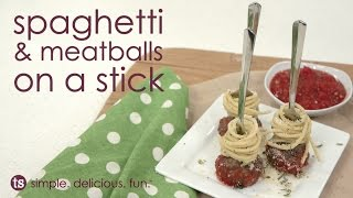 Spaghetti & Meatballs On A Stick