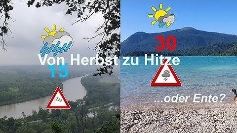 """Wetterprognose 7 bis 10 Tage: Von """"Herbst"""" zu Hitze. Temperatur-Sprung in einer Woche."""