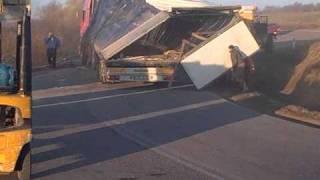 Wypadek litewskiego tira na trasie Gołdap- Węgorzewo. Made by kamilos
