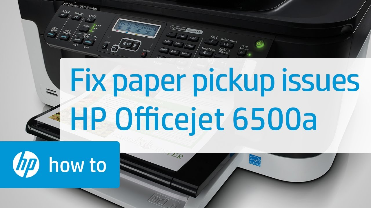 Fixing Paper Pick Up Issues Hp Officejet 6500a Plus E