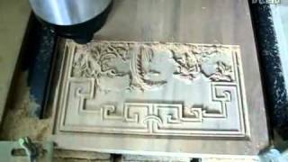 High Accuracy 3d Wood Engraving Cnc Router .avi