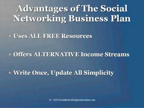 The Social Networking Business Plan Preview Youtube