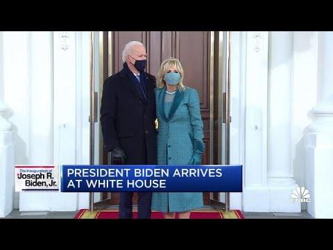 Download President Joe Biden arrives at the White House
