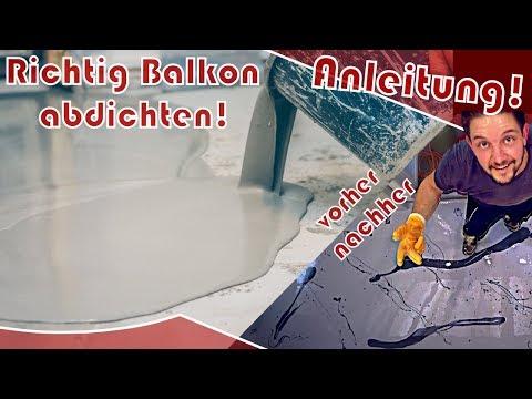 Turbo ⭐ Balkon abdichten │ ANLEITUNG ⭐ Epoxidharzboden einfach selber NN77