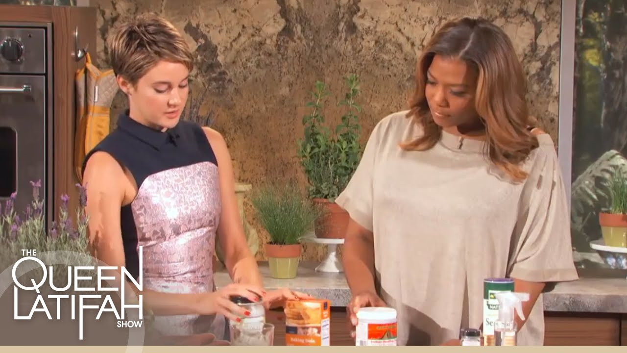 Queen Latifah Fakes Cheap shailene woodley's diy health and beauty products on the queen