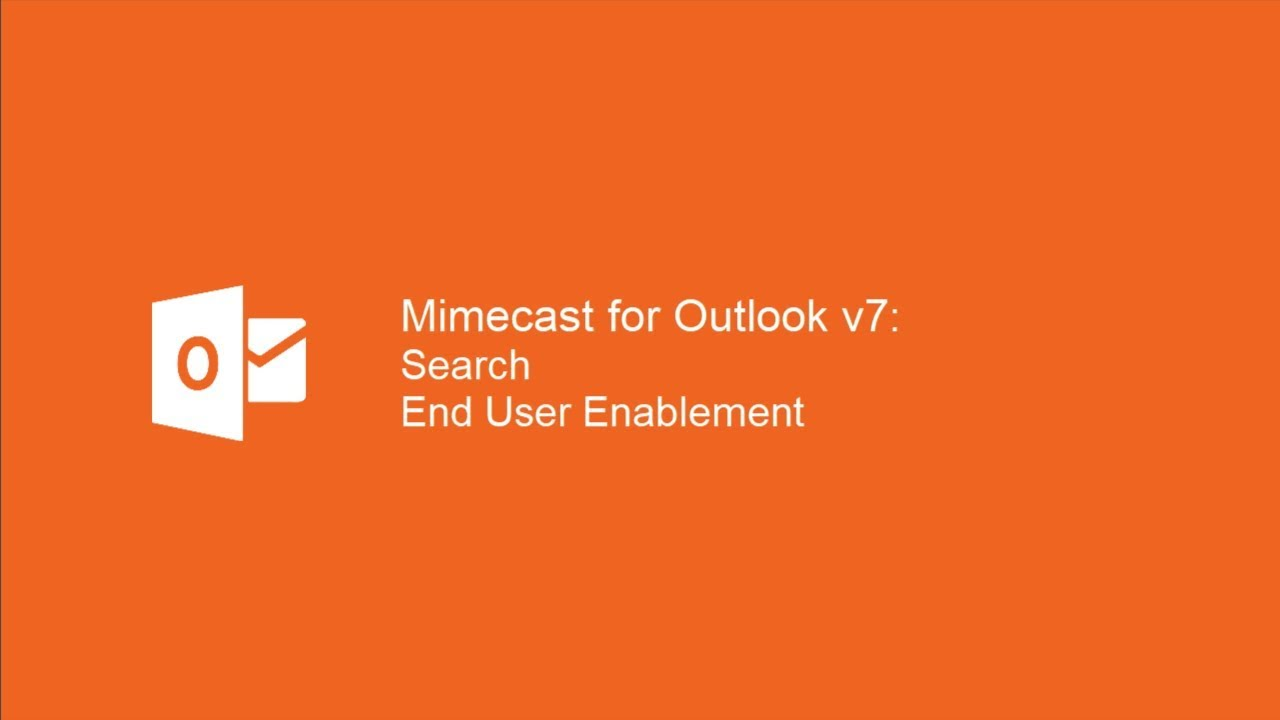 Mimecast for Outlook: Searching Folders | Mimecaster Central