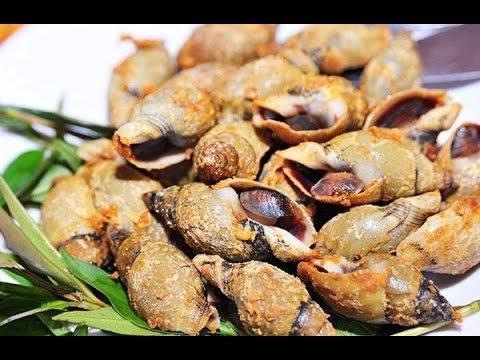 Ốc cà na - Ốc rang muối ớt - Món ốc đơn giản - cách làm món ốc cà na