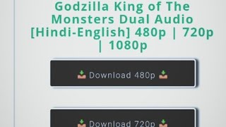 How to Download Godzilla king of the monsters in Hindi HD.