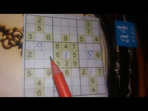 How we play hard sudoku puzzle in hindi ?