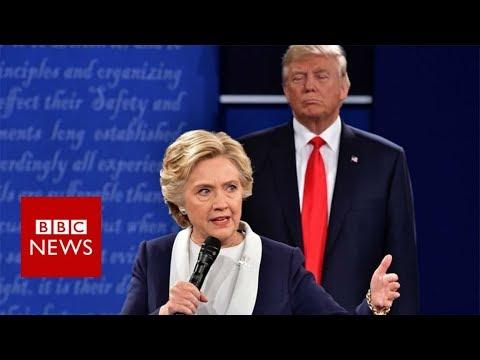 Hillary Clinton: My skin crawled in Trump debate - BBC News