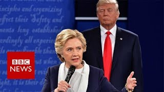 Hillary Clinton: 'My skin crawled' in Trump debate - BBC News