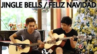 Jingle Bells/Feliz Navidad (guitar cover by Ralph and Kevin)