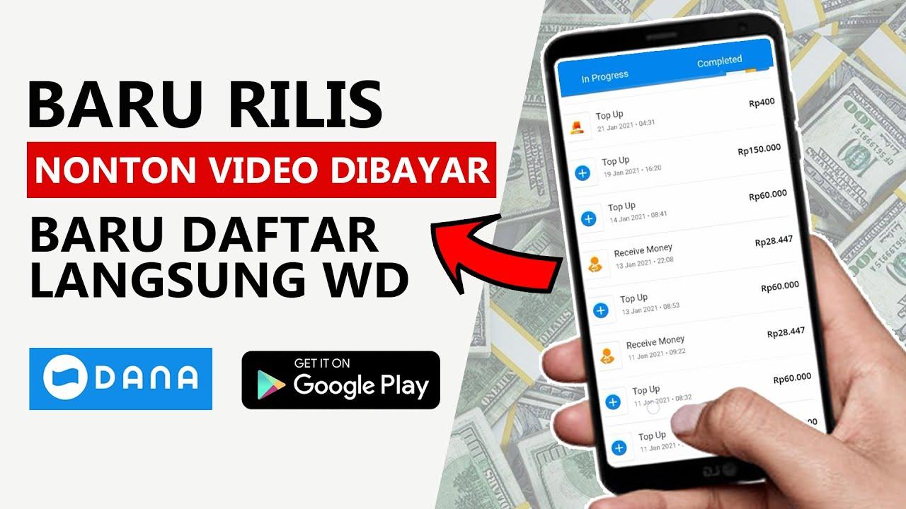 Baru Rilis Aplikasi Penghasil Uang Saldo Dana GRATIS Nonton Video Lucu Dibayar Baru Daftar Langsung