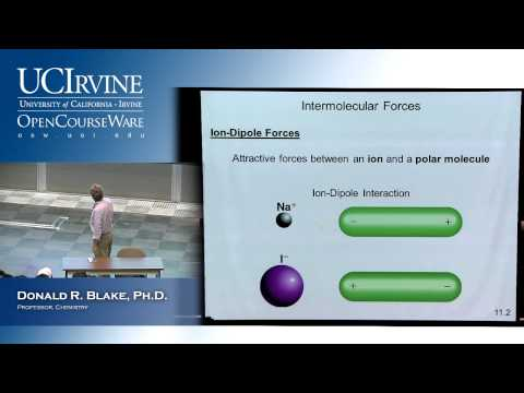 General Chemistry 1B. Lecture 2. Intermolecular Forces Liquids & Solids, Part II