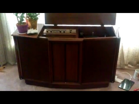 Fisher Console Stereo - YouTube