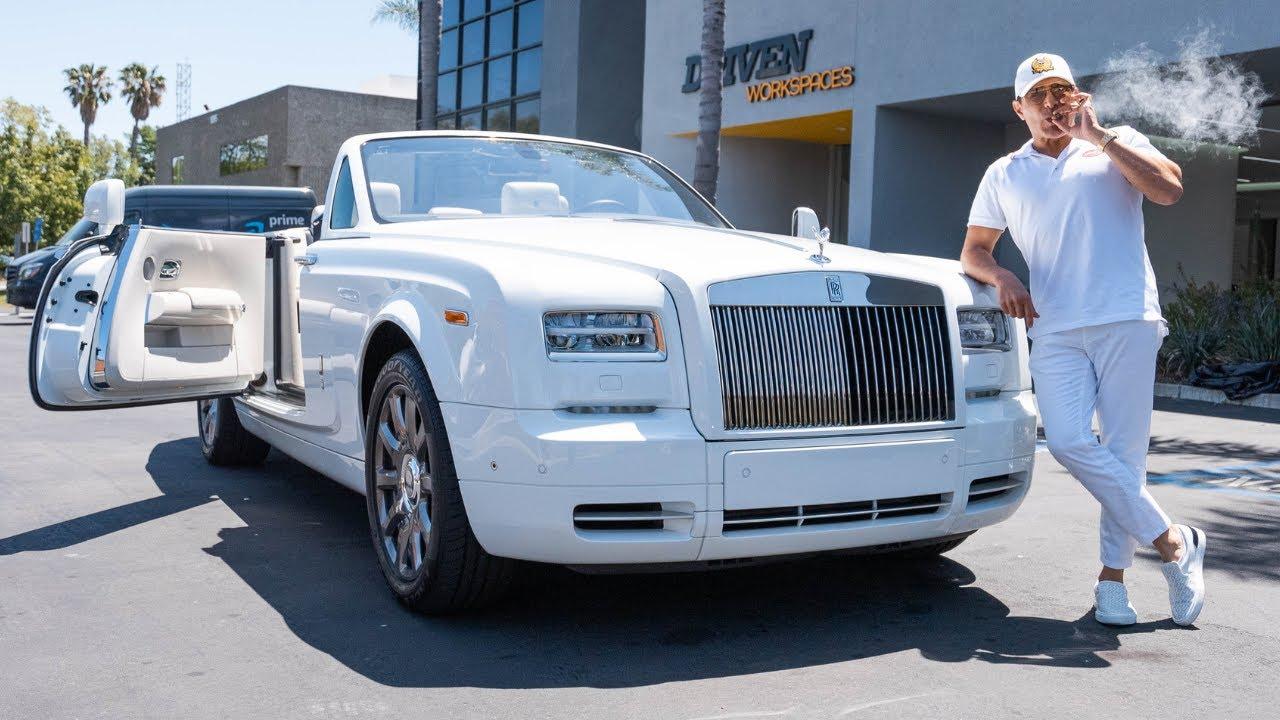 FIRST DRIVE IN MY NEW ROLLS ROYCE PHANTOM DROPHEAD! || Manny Khoshbin