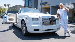 FIRST DRIVE IN MY NEW ROLLS ROYCE PHANTOM DROPHEAD! || Manny Khoshbin
