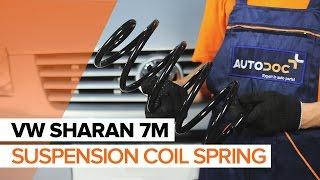 Replacing Poly v-belt on VW SHARAN: workshop manual