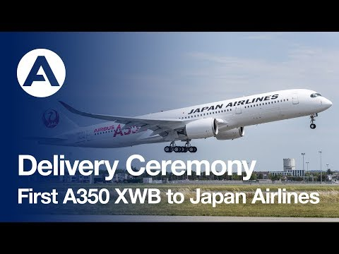 Delivery Ceremony: First #A350 XWB to Japan Airlines