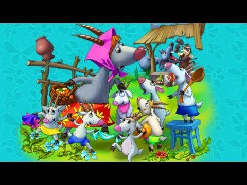 """""""Волк и семеро козлят"""" #2 Веселые сказки для детей. Сказки народов мира с красочными картинками 2019"""