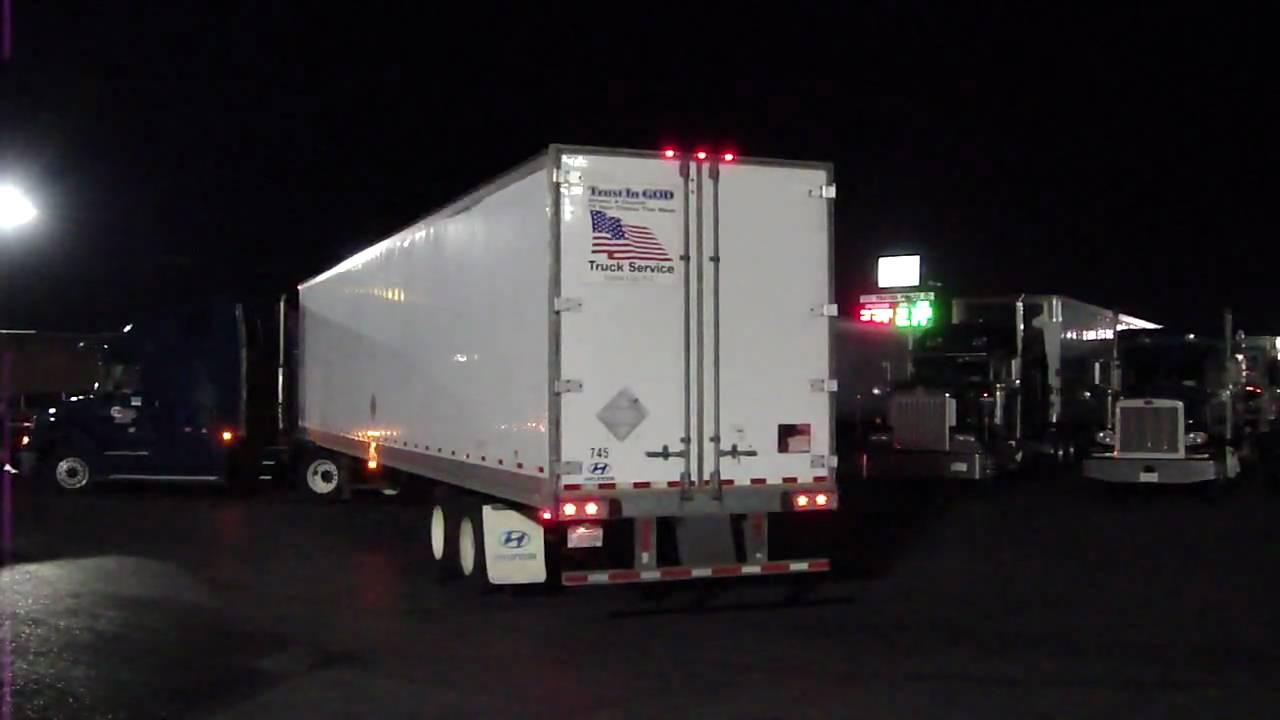 Semi Truck Trailer Back