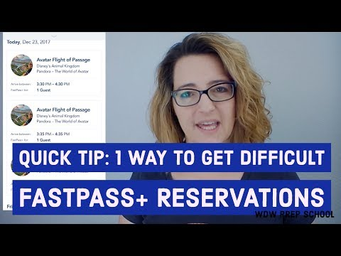 hqdefault - How to get difficult FastPass+ reservations