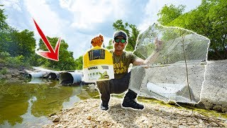 Trapping Fish In A Storm Drain - Homemade Trap