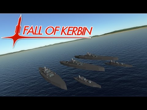 Fall Of Kerbin #5, Naval Fleet Battle, Kerbal Space Program