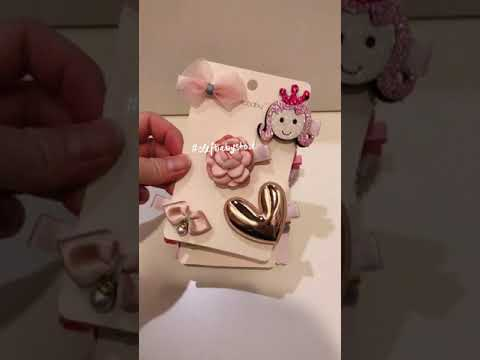BABY GIRL 5 HAIR CLIPS IN A SET