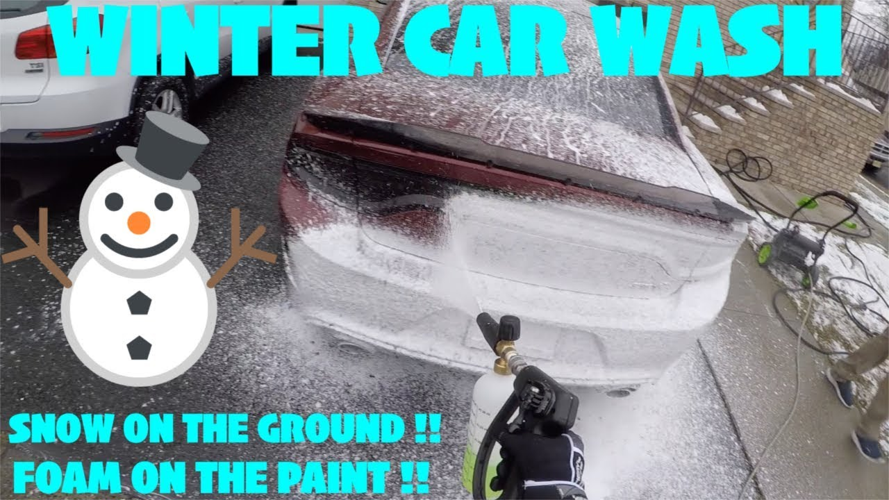 Washing Car In Winter >> Cold Weather Winter Car Wash Snow Foam Cannon