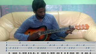 Airtel Theme on Guitar With Tabs And keyboard Notes by A R Rahman