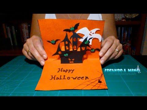 Como hacer una tarjeta desplegable para halloween youtube - Manualidades para hacer en casa ...